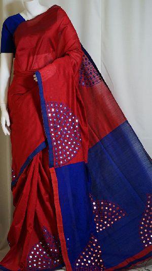 Silk Cotton Saree With Blouse 24