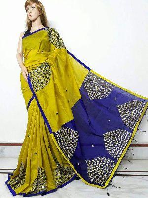 Silk Cotton Saree With Blouse 25