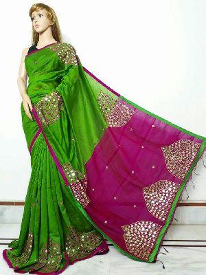 Silk Cotton Saree With Blouse 26