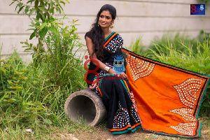 Silk Cotton Saree With Blouse 27