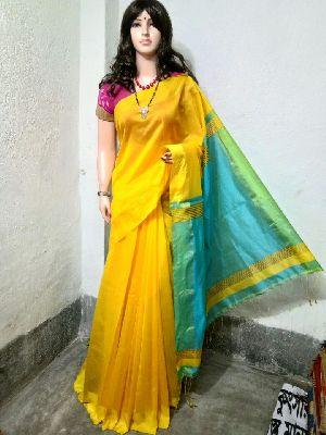 Silk Cotton Saree With Blouse 29
