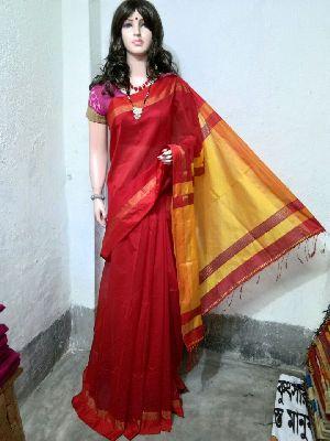Silk Cotton Saree With Blouse 30
