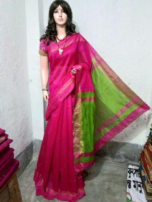 Silk Cotton Saree With Blouse 31
