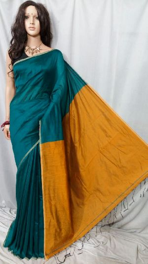 Silk Cotton Saree With Blouse 34