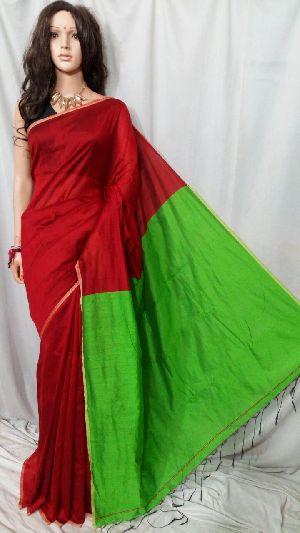 Silk Cotton Saree With Blouse 35