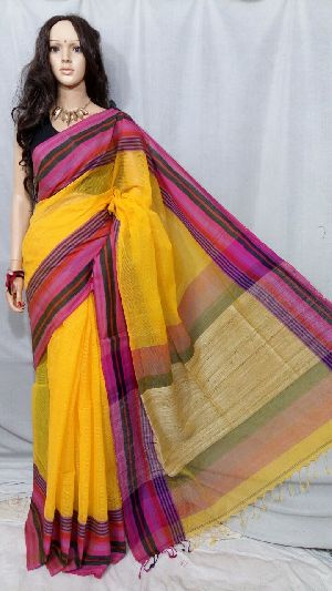 Tant Cotton Saree Without Blouse 09