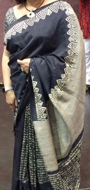 Tussar Silk Saree With Blouse 03