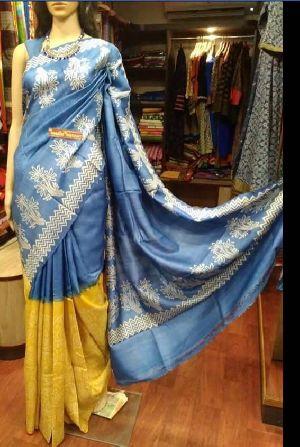 Tussar Silk Saree With Blouse 04