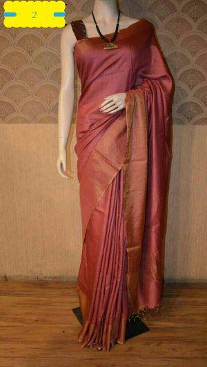 Tussar Silk Saree With Blouse 05