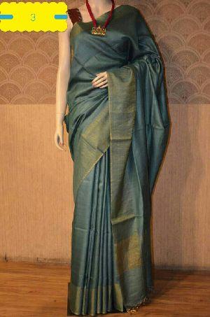 Tussar Silk Saree With Blouse 06