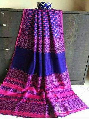 Tussar Silk Saree With Blouse 11