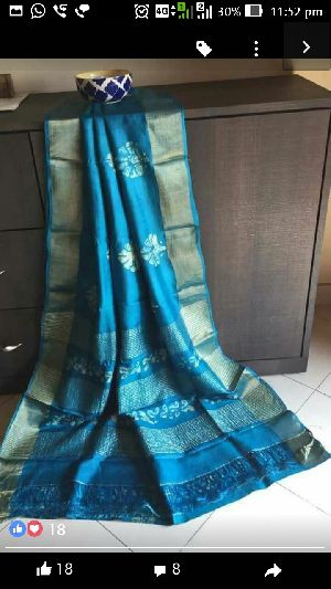 Tussar Silk With Zari Border 03