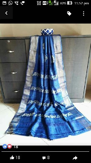 Tussar Silk With Zari Border 04