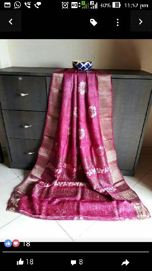 Tussar Silk With Zari Border 05