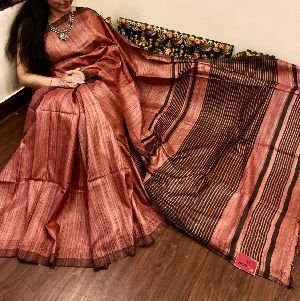 Tussar Silk With Zari Border 06