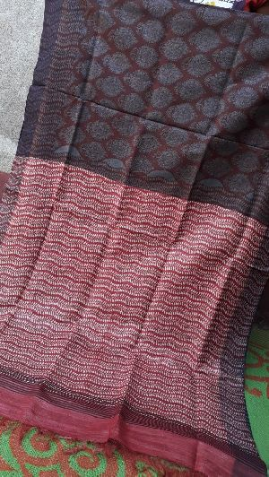 Tussar Silk With Zari Border 07