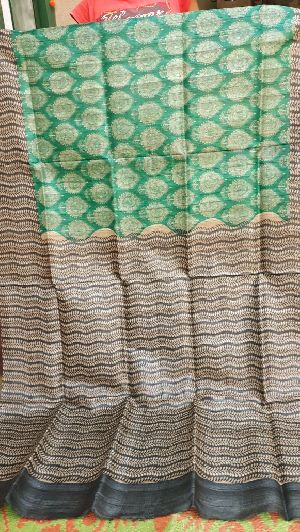 Tussar Silk With Zari Border 08