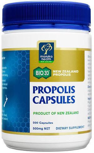 100% Pure New Zealand Manuka Health BIO3 Propolis Capsules ( 500 Capsules)