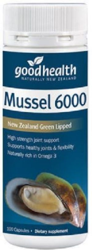 Good Health High Strength New Zealand Green Lipped Mussel 6000 100 Capsules
