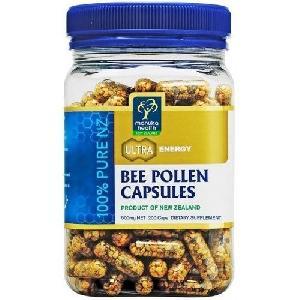 Manuka Health 100% Pure New Zealand Bee Pollen 500mg (200 Capsules)