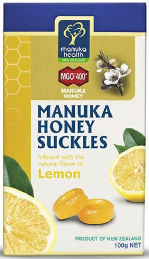 New Zealand Manuka Health Manuka Honey MGO 400+ Lemon Suckles (100g)