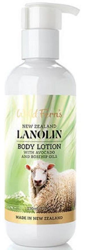 New Zealand Wild Ferns Lanolin Body Lotion 230ml 99% Natural