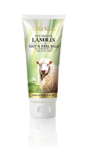 New Zealand Wild Ferns Lanolin Foot & Heel Balm With Manuka Oil & Aloe Vera (100ml)
