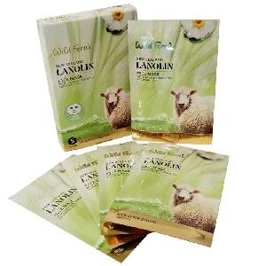 Wild Ferns Lanolin Face Mask With Collagen Green Tea And Royal Jelly (5 Pack)