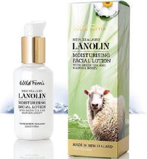 Wild Ferns Lanolin Moisturising Facial Lotion With Green Tea And Manuka Honey (100ml)