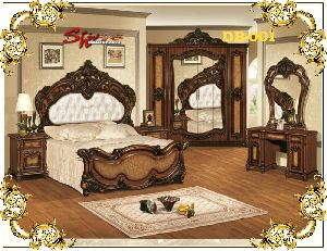 DB-001 Wooden Double Bed