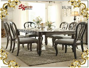 DG-002 Wooden Dining Table Set