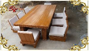 DG-010 Wooden Dining Table Set