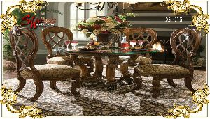 DG-016 Wooden Dining Table Set