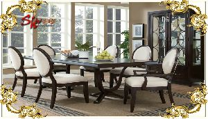 DG-017 Wooden Dining Table Set