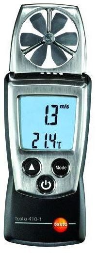 Testo 410-1 - Pocket-sized vane anemometer for Air Velocity and Air Temperature