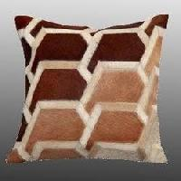 Patchwork Leather Cushion Covers 08