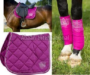 Horse Matching Saddle Pad Set 02