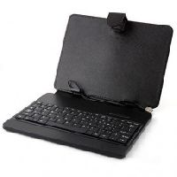 "Technotech 10"" Inch Leather Case Cover Stand with USB Keyboard"