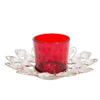 Handicraft Crystal Flower T-Light Votive