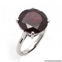 925 Sterling Silver Garnet Gemstone Ring
