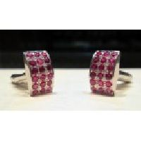 925 Sterling silver Ruby Gemstone Men's Cufflink