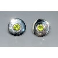 925 Sterling Silver Tsavorite Gemstone Men's Cufflink