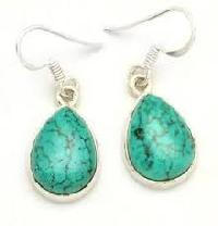 925 Sterling Silver Turquoise Gemstone Earring