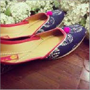 Ladies Dark Blue Punjabi Jutti