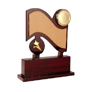 Wooden Double Star Memento