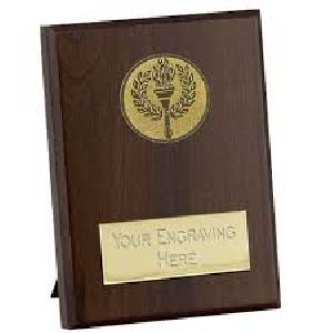 Wooden Presentation Plaque