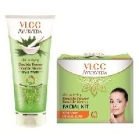 Ayurveda Skin Purifying Double Power Double Neem Facewash & Facial Kit Combo