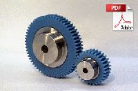 Plastic Spur Gears with Stainless Steel Core