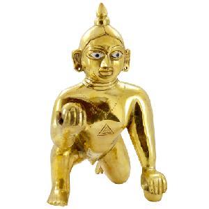 Brass Laddu Gopal Ji Statue