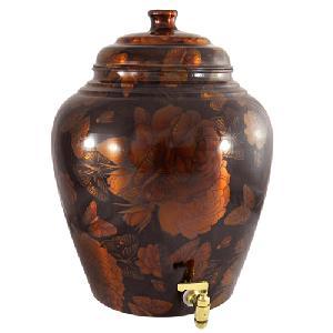 Colour Copper Matka Pot